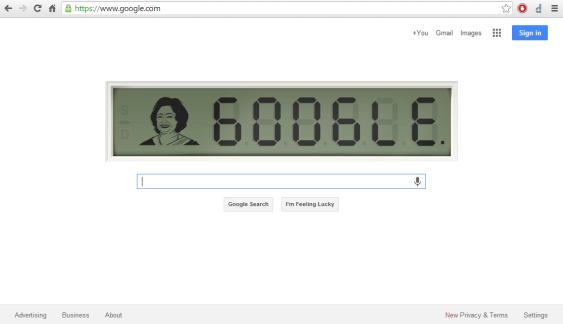 Google Homepage - 04 Nov 2013
