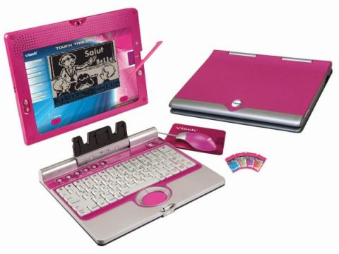 "A ""for her"" laptop, because women won't know a laptop was made for them unless it's PINK. Credit to Trade Tang"