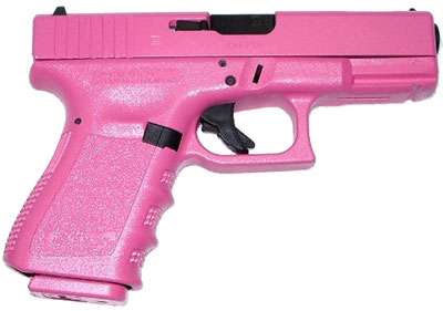 "A ""for her"" gun, because  you need to know at a glance if a gun belongs to a woman or not."